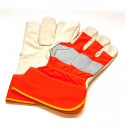 Рабочие перчатки - оранжевые со световозвращающей полосой арт. 3140