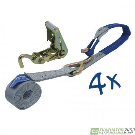 Стяжка груза 2,5т/3м 50мм метод Крепления за диск 1 шт.