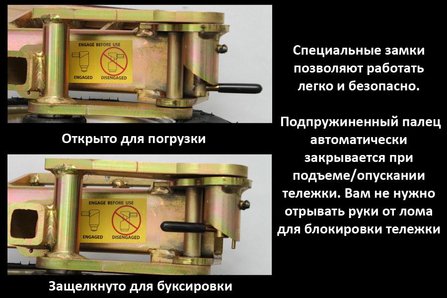 Подкатная тележка долли для эвакуатора с частичной погрузкой